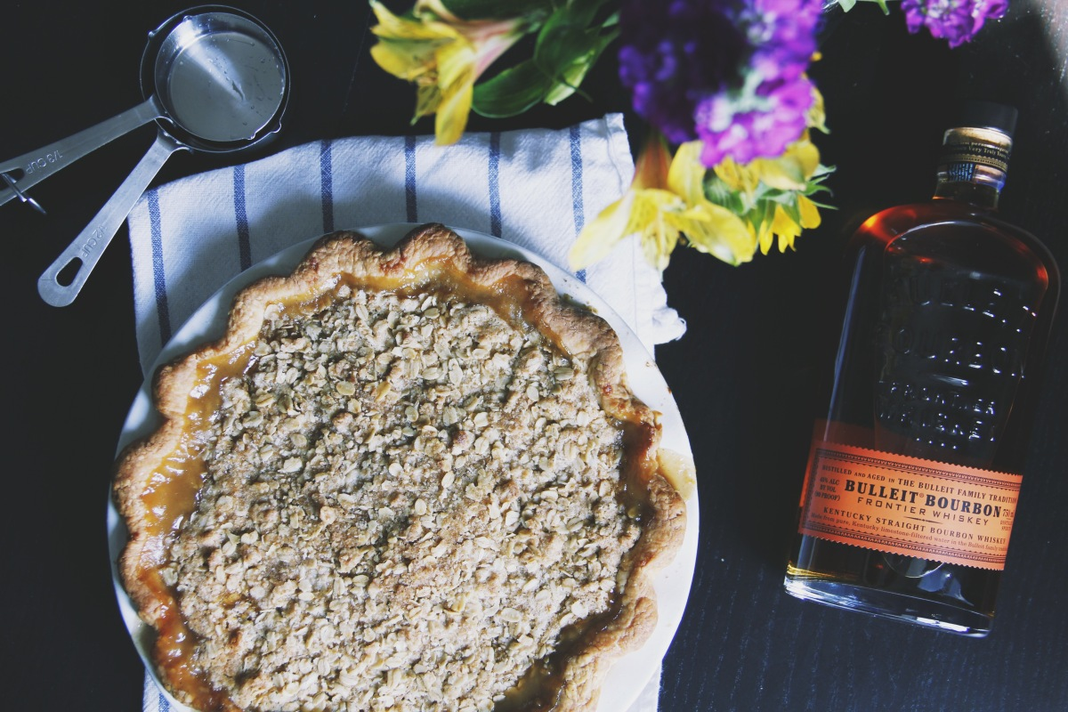 Boozy Bourbon Pear Pie