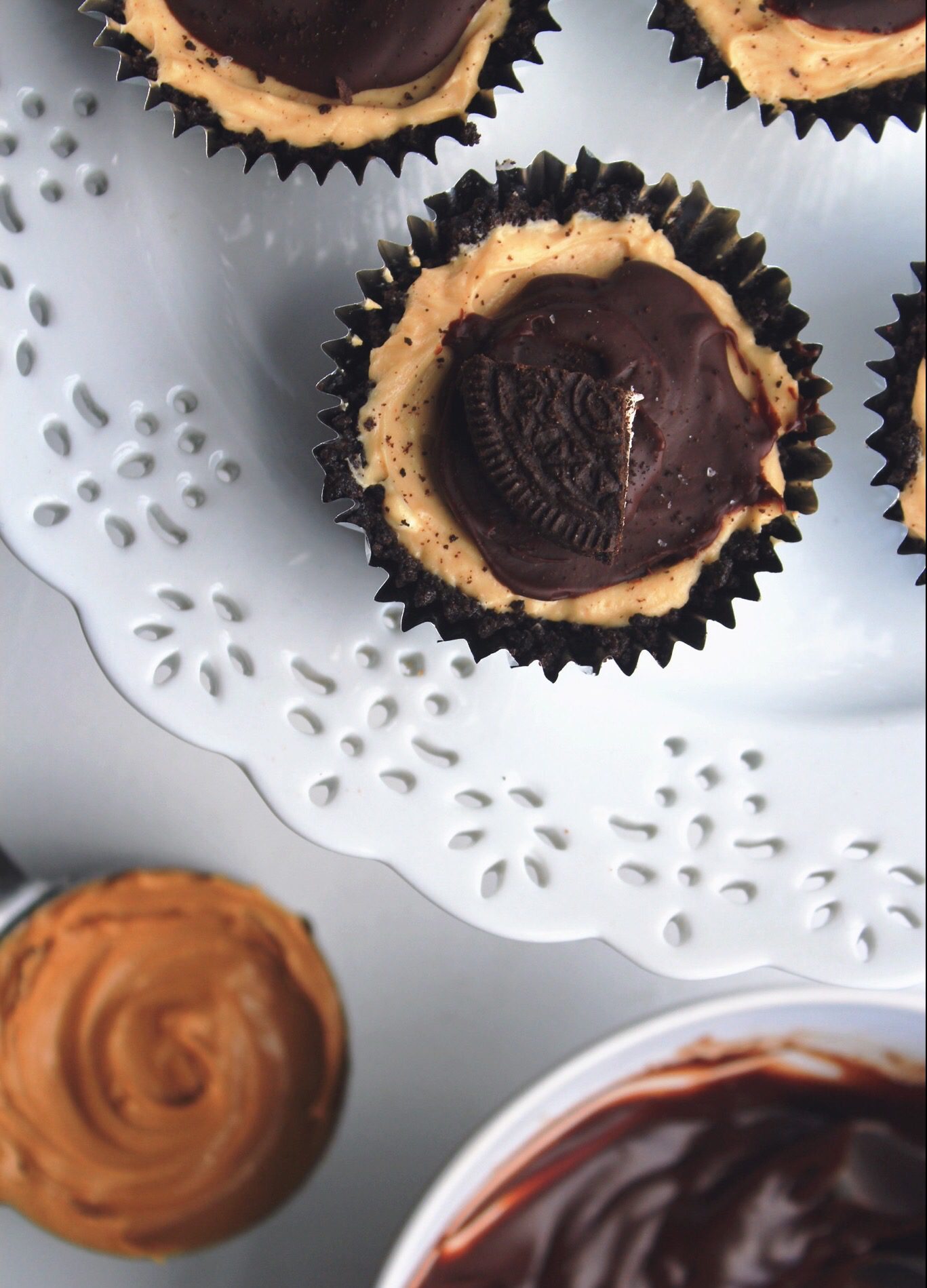 Peanut Butter and Chocolate Mini Pies