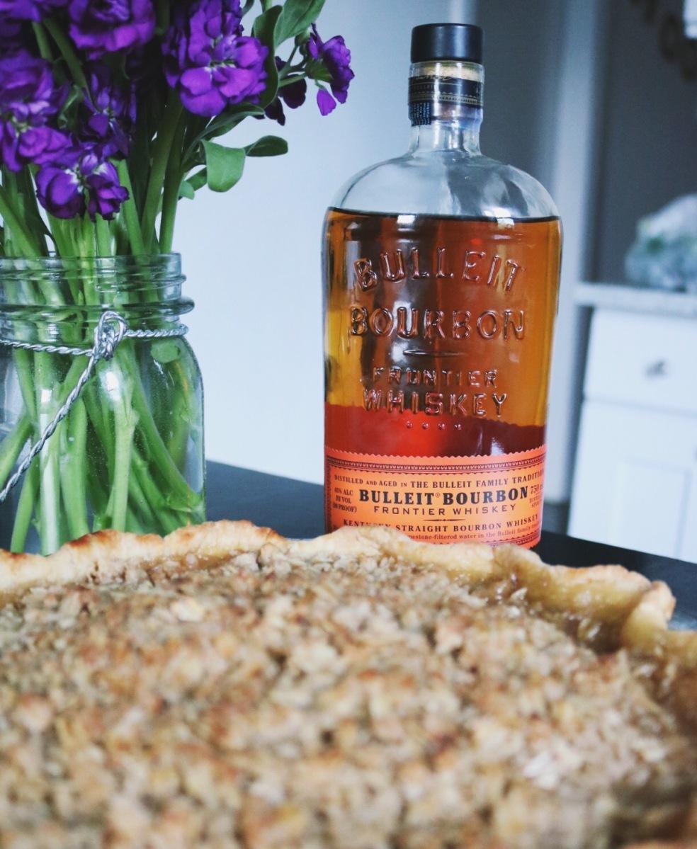 Boozy Bourbon Pear Pie