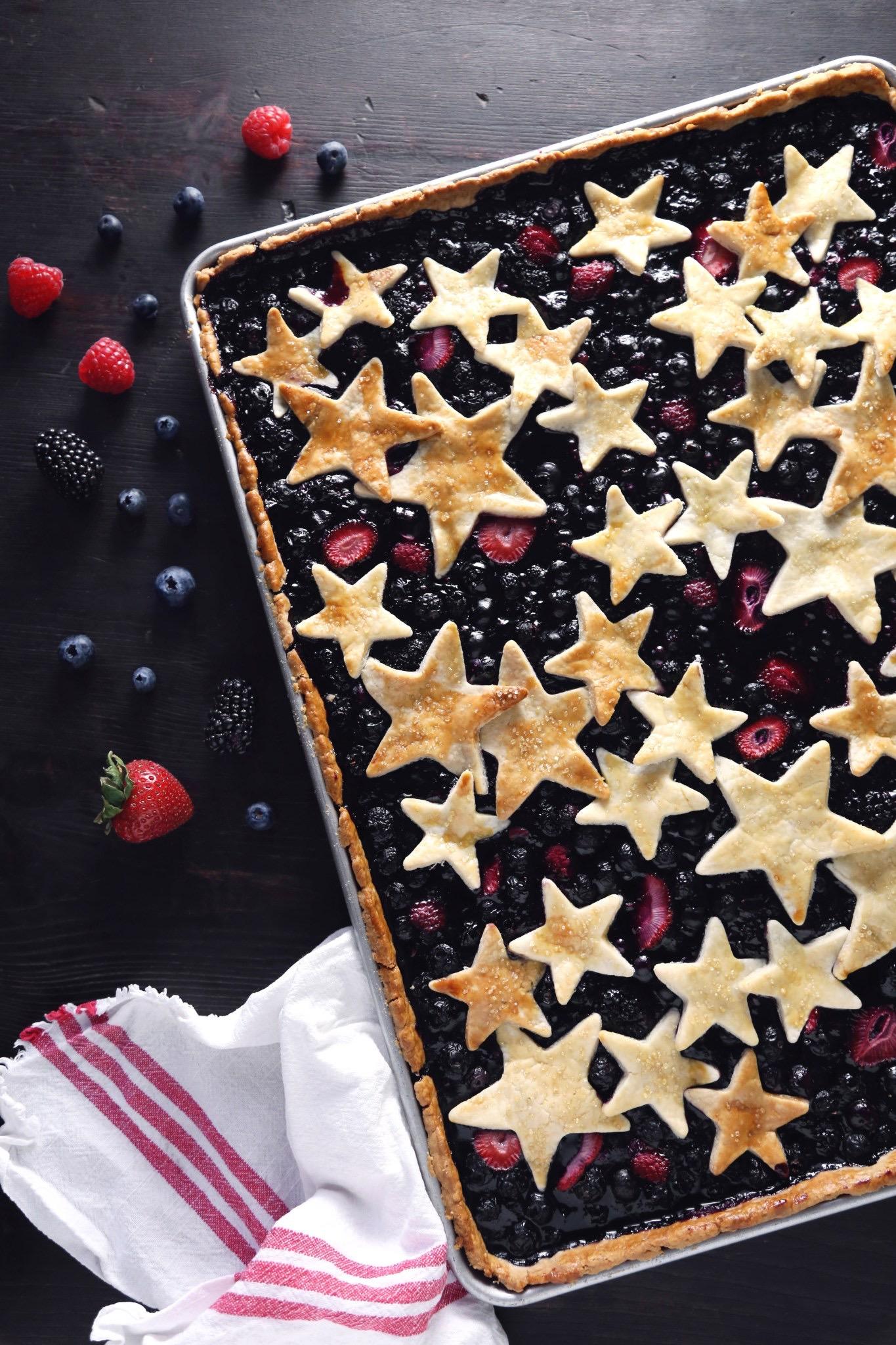 Patriotic Pies - Star Spangeled Slab pie