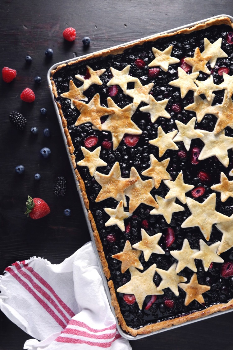 Patriotic Pies - Star Spangeled Slab pie