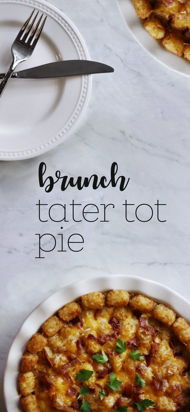 Brunch Tater Tot Pie recipe