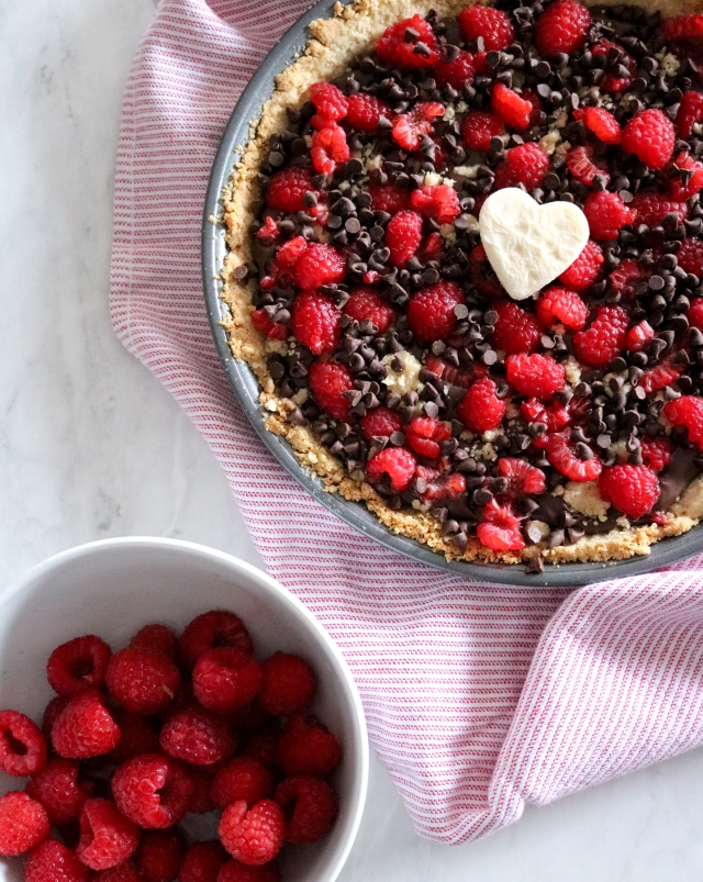 Dark Chocolate Raspberry Pie | via Pies Before Guys