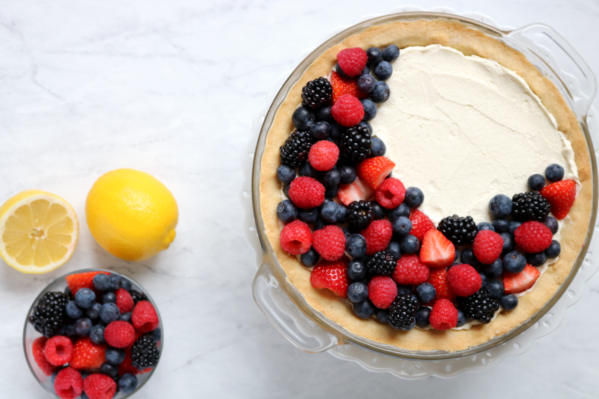 Simple Lemon Berry Pie