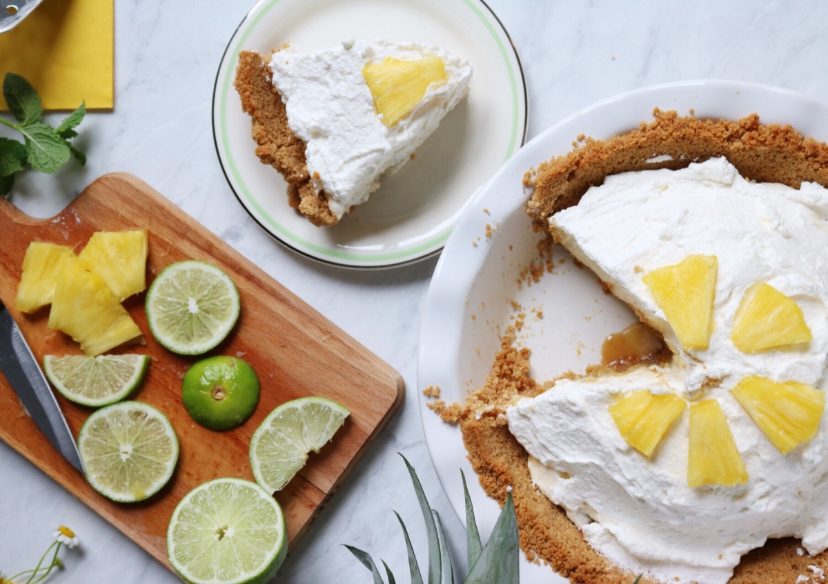 Caramelized Pineapple Cream Pie