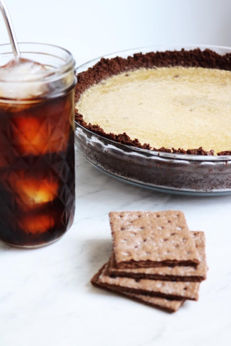Cold Brew Coffee Pie recipe | via Pies Before Guys